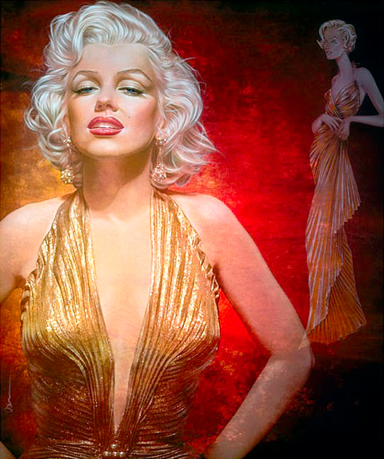 Gold Lame Marilyn II :: Adam Scott  Rote